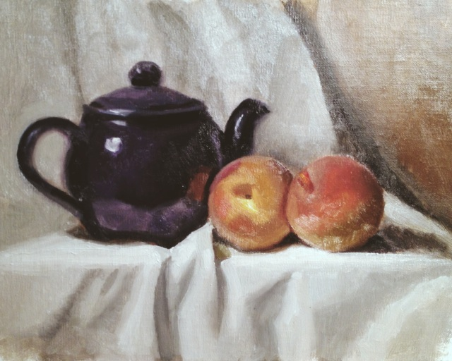 Peaches and Teapot
